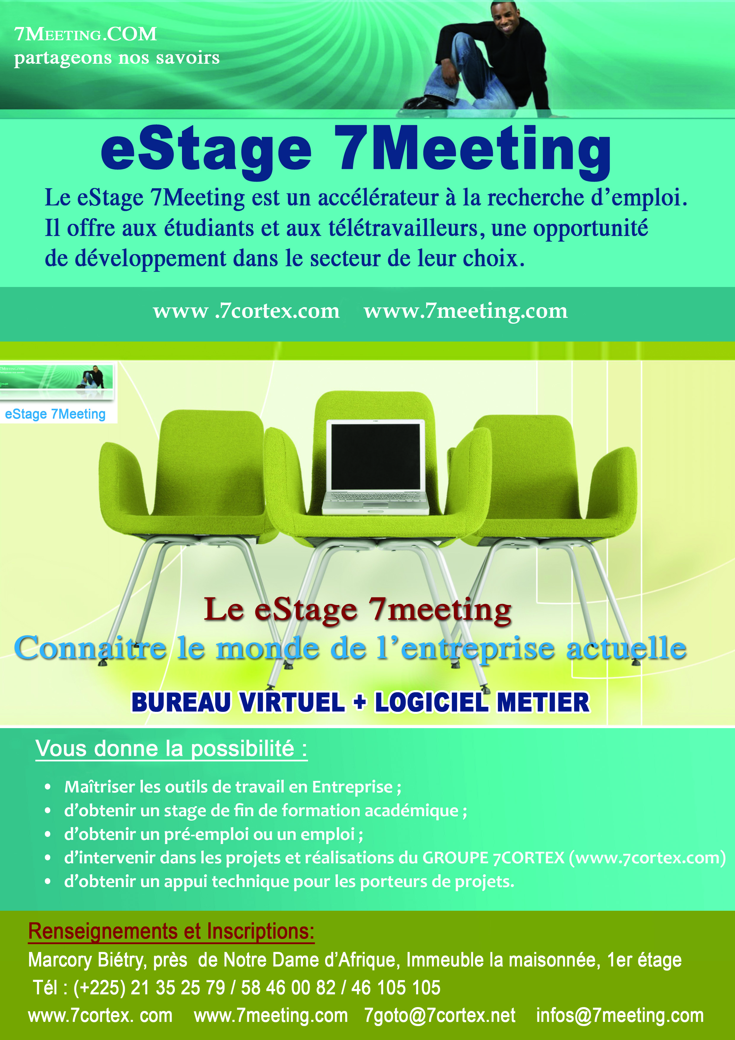 affiche estage 7meeting